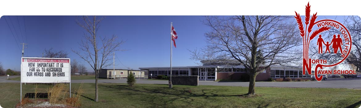 Image of front entrance of the school.
